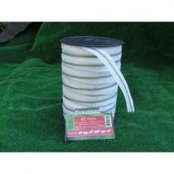 Ruban 4cm blanc et vert 200m