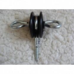 Ancrage noir tournant pour piquet bois (x10)